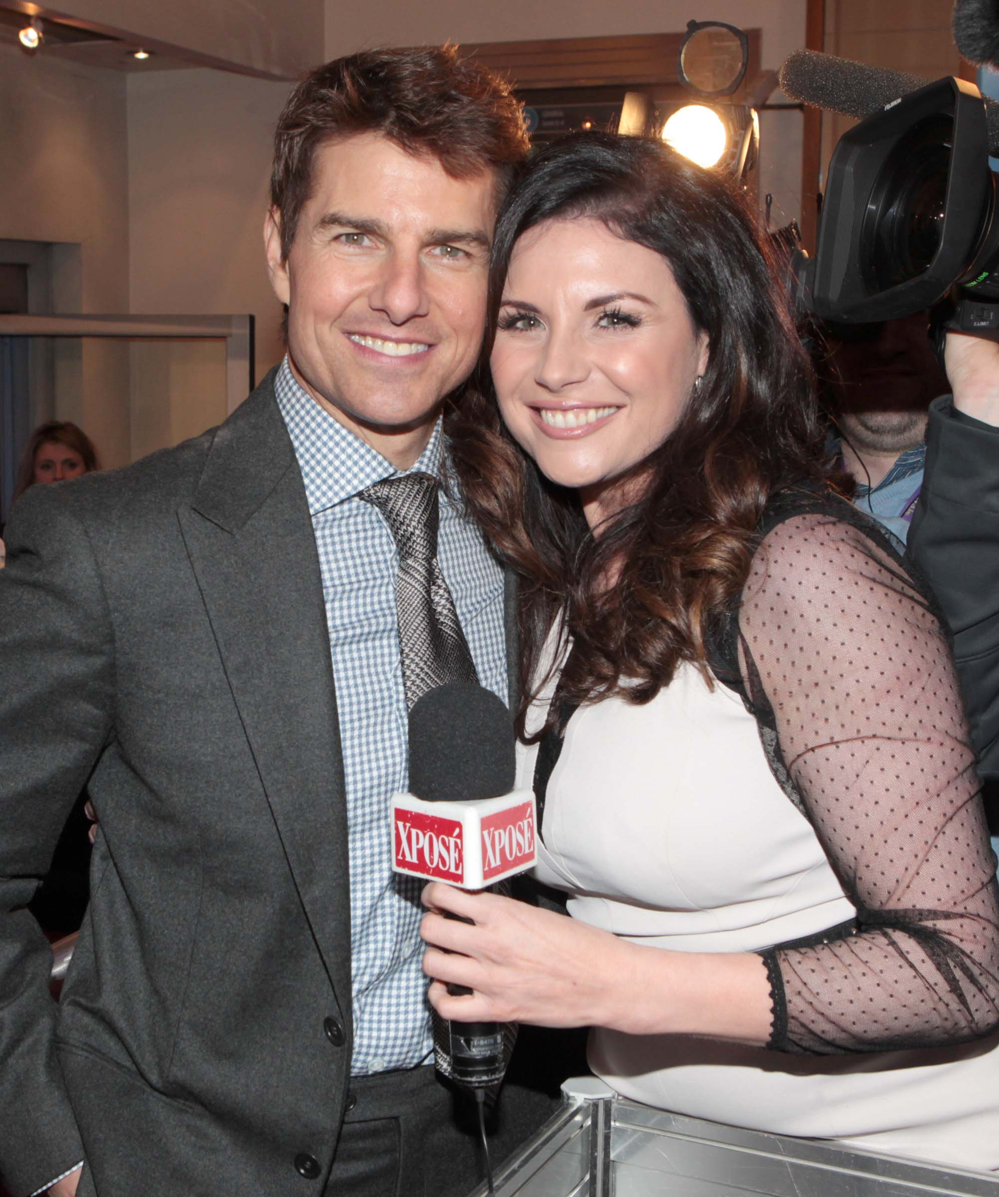 Tom Cruise with Xpose presenter Lisa CannonPicture Brian McEvoy