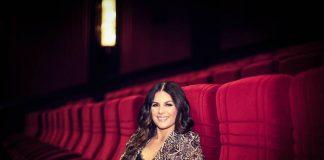Lisa in cinema seats